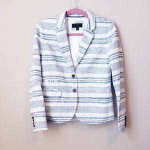 J.Crew silk and lenin striped blazer